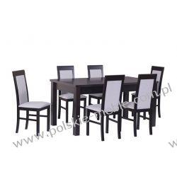 Stół MODENA 4 + krzesła NILO 6 (6szt.) - zestaw DX37
