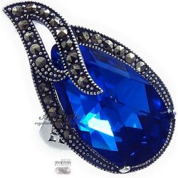 NOWE SWAROVSKI pierścionek BLUE COMET SREBRO
