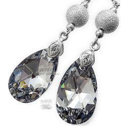 SWAROVSKI piękne długie kolczyki COMET DIAMOND
