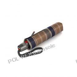 """Parasol markowy KNIRPS T.200 EASY HANDLING """"COMPACT & COMFORTABLE"""" Check Toffee"""