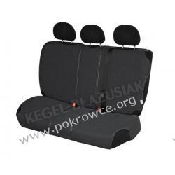 Pokrowce samochodowe na tylną kanapę SHIRT AIR BAG grafitowe Audi A4 od 99r