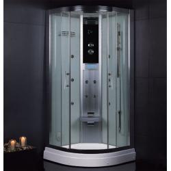 DZ945F3 100/100cm białe szkło tylne Kabiny i brodziki