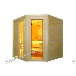 Exklusiv- Eck- Sauna 205 cm x 205 cm