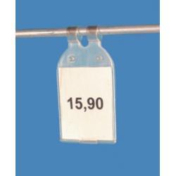 plastikowe zatrzaskowe etui do zawieszania na ceny 28x33 fi 5mm CCp