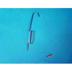 haczyk metalowy z linka nylon 120mm 100szt