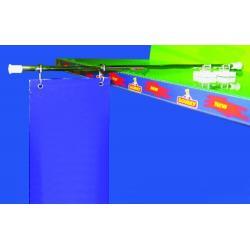 ramie metal poziom do wieszania reklam baner magnes 1kpl 325