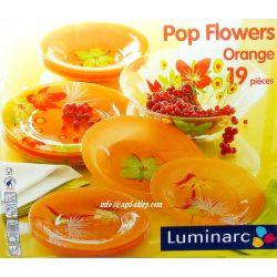 Serwis obiadowy POP FLOWERS ORANGE Luminarc gratis