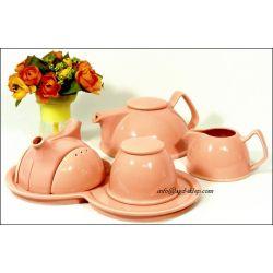 Zestaw do herbaty Pink dzbanek cukiernica