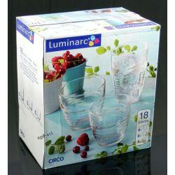 Zestaw szklanek 18cz literatki szklanki Luminarc