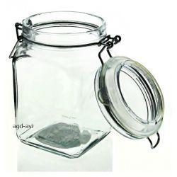 Pojemnik kuchenny szklany słoik 1000ml z klamerką