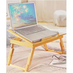 Stolik drewniany do łóżka pod laptopa rozkładany