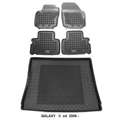 Dywaniki Gumowe+Bagażnik Ford Galaxy II 2006 S-Max