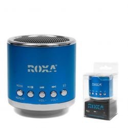 Przenośny głośnik MP3 RADIO USB RoXa !!! NIEBIESKI Gadżety motoryzacyjne