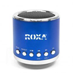 Przenośny Niebieski głośnik MP3 RADIO USB RoXa !!! Gadżety motoryzacyjne
