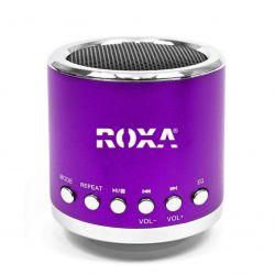Przenośny głośnik MP3 RADIO USB RoXa !!! Fioletowy Gadżety motoryzacyjne