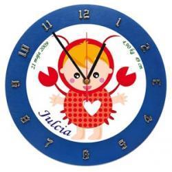 Pamiątkowy Zegar dla Dzieci ze Znakiem Zodiaku