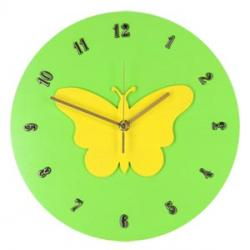 MOTYL II  Zegar ścienny dla dzieci