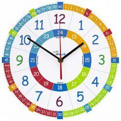 Zegar ścienny dla Dzieci Edukacyjny Nauczycielski