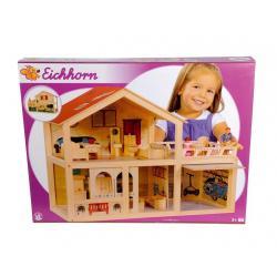 Eichhorn Luksusowy Olbrzymi Domek drewniany dla lalek z tarasem