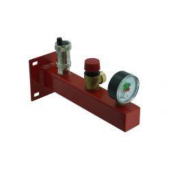 Grupa bezpieczeństwa C.O.: zawór bezpieczeństwa, ciśnieniomierz i zawór odpowietrzający