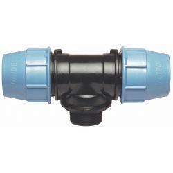 """Trójnik polietylenowy, ⌀ 20 mm × 3/4"""" GZ × 20 mm"""