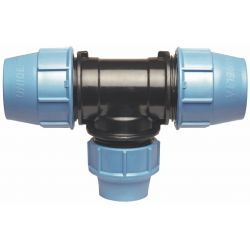 Trójnik redukcyjny polietylenowy, ⌀ 25 mm × 20 mm × 25 mm