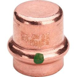 Zaślepka miedziana zaciskana do wody, ⌀ 15 mm