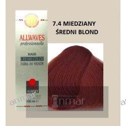ALLWAVES FARBA CREM COLOR 100 ml - 7.4 MIEDZIANY ŚREDNI BLOND