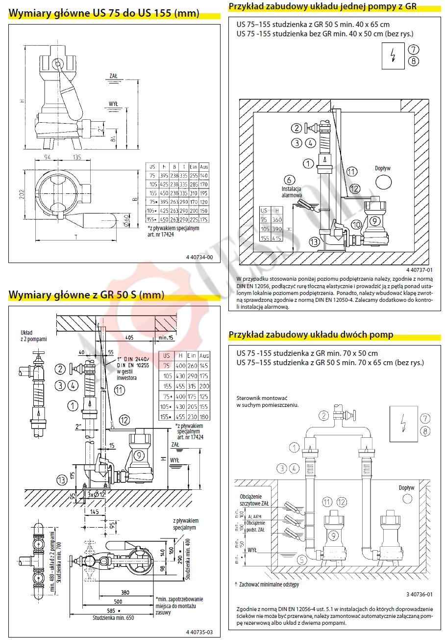 pompa_zatapialna_do_wykopoiw_US_75-155_JUNG_PUMPEN_rysunki_montarzu