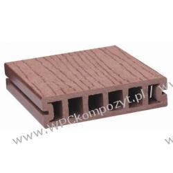 Deska tarasowa, kompozyt drewna, WPC, 100x25mm - 2,4/3/4/5,8m kolor brązowy (WPC008)