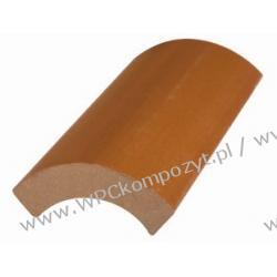Profil bazowy ławki, kompozyt drewna, WPC, 95x21mm -  kolor brązowy, WPC08
