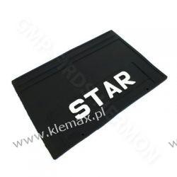 """FARTUCH CHLAPACZ PRZECIWBŁOTNY TYLNY TŁOCZONY """"STAR"""" 520x350mm"""