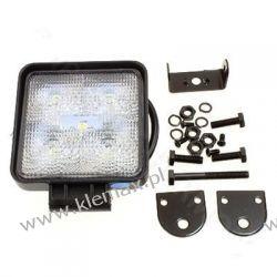 LAMPA ROBOCZA 5-LEDOWA PROSTOKĄTNA 12-24V, 5x3W, 110x110mm, OBUDOWA ALUM. Kompletne zestawy