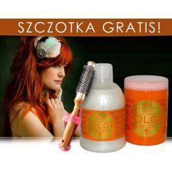 Kallos COLOR Szampon + Maska + GRATIS SZCZOTKA
