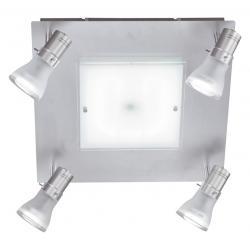 Lampa sufitowa Paul Neuhaus Spot 4 kwadrat stal