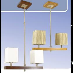 Żyrandol drewniany Kaja K-MD68434A/2
