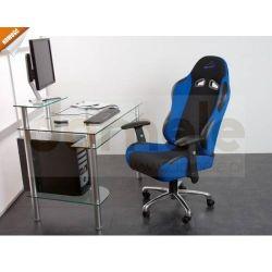 Fotel biurowy w sportowym desig niebiesko-czarny...