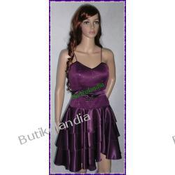 sukienka Pretty Women Pola fioletowa