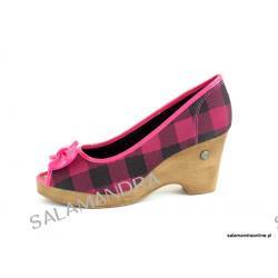 Sandały damskie Dijean 715 716 Pink Plaid