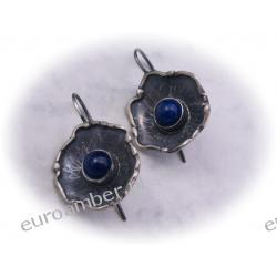 Kolczyki srebrne z kamieniem Lapis lazuli