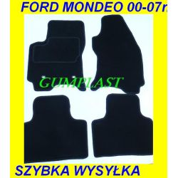 FORD MONDEO 00-07r DYWANIKI WELUR CZARNE POLIAMID