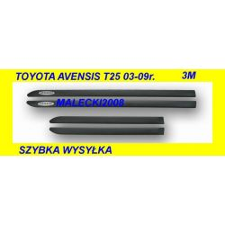 LISTWY BOCZNE DRZWI TOYOTA AVENSIS T25 NOWE KPL