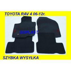 TOYOTA RAV 4 RAV4 06-12r. DYWANIKI WELUR GUMOWANY