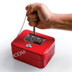 Metalowa szafka z szybką i wybijakiem czerwona PK6 OPUS