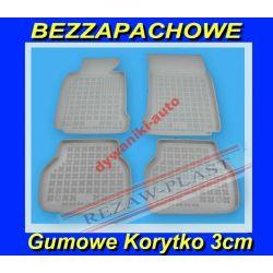 BMW 5 E39 96-03 SZARE DYWANIKI GUMOWE KORYTKA 3cm Gumowe