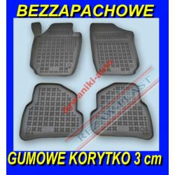 VW POLO V od 2009 DYWANIKI GUMOWE KORYTKA 3cm Gumowe
