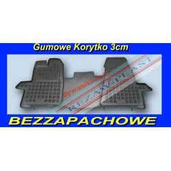 FORD TRANSIT CUSTOM DYWANIKI GUMOWE KORYTKO 3cm Gumowe