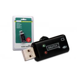 Karta muzyczna USB2.0, Audio adapter 16Bit regulacja głośności