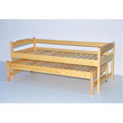 Łóżko dwuosobowe wysuwane wysokie-80