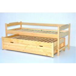 Łóżko dwuosobowe wysuwane wysokie z tapczanem-80